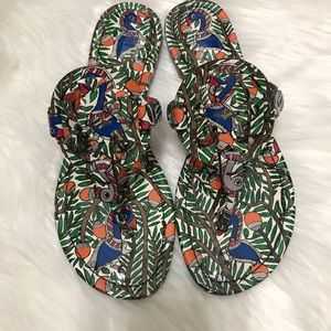 Tory Burch Shoes - {Tory Burch} Printed Patent Miller Sandals